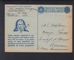 Cartolina Per Le Forze Armate 1943 Segreto Militare - Postwaardestukken