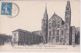 51 REIMS échafaudage ,restauration, L'hôpital, Eglise Saint Rémi , - Reims