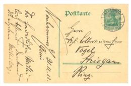 Ganzsache Neuhammer Am Queis 1912 Nach Striegau, Schlesien - Germania