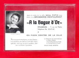 "67-CARTE SOUVENIR - "" A LA BAGUE D'OR "" - STRASBOURG - BRASSERIE RESTAURANT - Strasbourg"