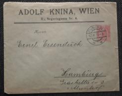 Privat Umschlag 1904, WIEN - HAMBURG - 1850-1918 Empire