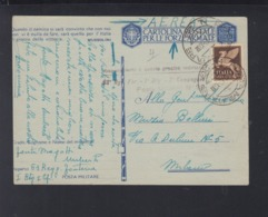 Cartolina Per Le Forze Armate Aerea 1942 - Postwaardestukken