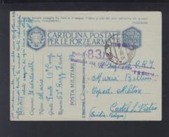 Cartolina Per Le Forze Armate 1942 (5) - Postwaardestukken
