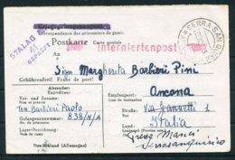 1943 (Nov) Stalag 327 Censor POW Interniertenpost - Italy. Italian Prisoner Held In Germany After Surrender To Allies - Germany