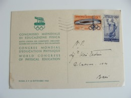 1960  ROMA  CONGRESSO OLYMPISCHE  OLIMPIADE    OLYMPIA OLIMPIQUES OLYMPIC SPORT - Giochi Olimpici