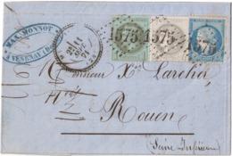 GC 1575/41+25+37  T15  VESENAY (ill.) 24  11/09/71 Lac Arr TB Ind 24 DETAIL - 1870 Besetzung Von Paris