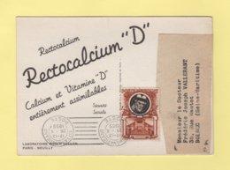 Vatican - Carte Publicitaire Laboratoire Roger Bellon - Rectocalcium - 1955 - Vatican
