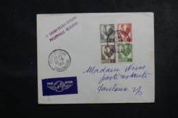 ALGÉRIE - Enveloppe 1er Vol Philippeville / France En 1953, Affranchissement Plaisant - L 45901 - Algeria (1924-1962)
