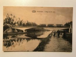 Belgium Belgique Raevels Ravels Brug Over De Vaart Bridge Train Bahn Bicycle River 11608 Post Card Postkarte POSTCARD - Ravels