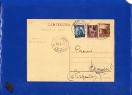 ##(DAN1911)-9-8-1947-Cartolina Postale L.3 Da Pescasseroli (L'Aquila) Frazionario (3-111) Usata Come Avviso Ricevimemto - 6. 1946-.. Repubblica