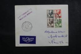 ALGÉRIE - Enveloppe 1er Vol Philippeville / France En 1953, Affranchissement Plaisant - L 45903 - Algeria (1924-1962)