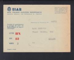 Cartolina  EIAR - 1900-44 Victor Emmanuel III