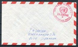 1965 Denmark United Nations Emergency Force Cover - Lettere