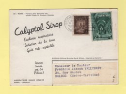 Vatican - Carte Publicitaire Laboratoire Roger Bellon - Calyptol - 1955 - Vatican