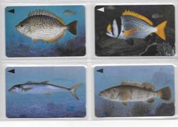 4 Cartes De BAHREIN Bahrain Poissons Fish - Poissons