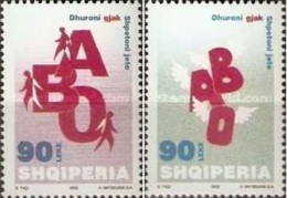 Albania Stamps 2002. BLOOD DONATION. RED CROSS. Set MNH. - Albania