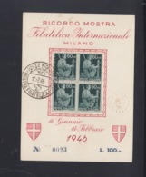 Cartolina Mostra Milano 1946 - 5. 1944-46 Lieutenance & Umberto II