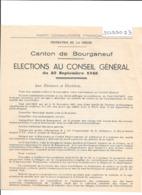 Canton De Bourganeuf - Elections Au Conseil Général Du 23 Septembre 1945 - Parti Communiste Français - Ohne Zuordnung