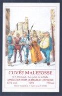 étiquette De Vin: Cuvée Malefosse 1993 (F. Dermaut - Les Amis De La Bulle) - Fumetti