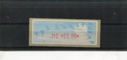 France 1 Vignette Distributeur Type C LISA  N°YT 215 - J+1 13,00 - 1990 «Oiseaux De Jubert»