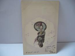 JAPON JAPAN  FEMME JAPONAISE 日本の女性  CPA 1904 - Non Classés