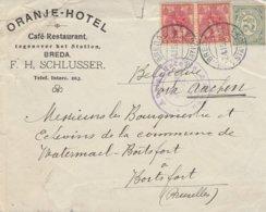 Oranje-Hotel Breda F.H. SCHLUSSER -Breda Station Vers Bruxelles / Petite Déchirure Dans Le Haut - Guerre 14-18
