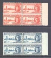 KUT Scott 90/91 - SG155/156, 1946 Victory Set Blocks Of 4 MNH** - Kenya, Uganda & Tanganyika