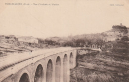 Carte Postale Ancienne Des Alpes De Haute-Provence - Forcalquier - Vue Générale Et Viaduc - Forcalquier
