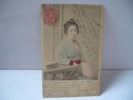 JAPON JAPAN  FEMME JAPONAISE 日本の女性  CPA 1906 - Non Classés