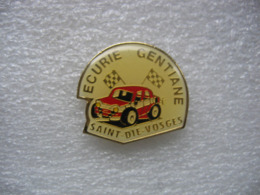 Pin's Courses, Rallyes Automobiles: Ecurie Gentiane De Saint Dié Des Vosges - Rally