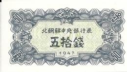 COREE DU NORD 50 CHON 1947 UNC P 7 - Korea, Noord