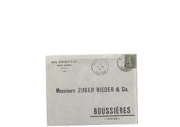 Lettre Avec Repiquage Privé Aff Du 15c Semeuse Lignée N° 130, Obl TaD Type 04 Moosch Du 11.06.1918 Bien - 1903-60 Semeuse A Righe