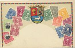 78-130 Venezuela Stamps On Postcard Embossed - Venezuela
