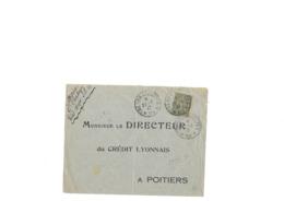 Lettre Avec Repiquage Privé Aff Du 15c Semeuse Lignée N° 130, Perforé CL Obl TaD Type 04 Du S.P.55 Du 21.03.1917 Bien - 1903-60 Semeuse A Righe
