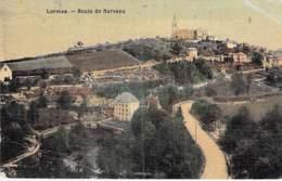 """58 - LORMES : Route De Narveau - CPA Village ( 1.300 Habitants) """"toilée"""" Et """"vernie"""" - Nièvre ( Bourgogne Morvan ) - Lormes"""