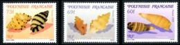 POLYNESIE 1989 - Yv. 343 344 Et 345 **   Faciale= 1,70 EUR - Microcoquillages (3 Val.)  ..Réf.POL24570 - Polinesia Francese