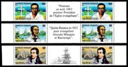 POLYNESIE 1988 - Yv. 318A à 320A = 318 à 320 En Tryptiques **   Faciale= 4,54 EUR - Missionnaires  ..Réf.POL24557 - French Polynesia
