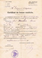 Certificat De Bonne Conduite 1910 - Soldat Du 90 ème Régiment D'Infanterie Basé Caserne Bertrand à Châteauroux - Documenti