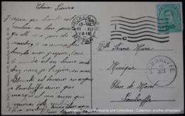 Oblitération IC Sur Albert 5 Cent Sombreffe Bruxelles Brussel Brussels Laeken Tour Japonaise Laken Japanese Tower - Postmark Collection
