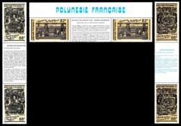 POLYNESIE 1989 - Yv. 347A à 349A = 347 à 349 En Tryptiques **   Cote= 16,00 EUR - Légendes Polynésiennes  ..Réf.POL24575 - Neufs