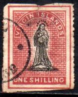 12122 Ilhas Virgens 6 A Virgem Decalque No Verso - Com Defeito U - Britse Maagdeneilanden