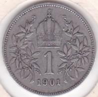 Autriche 1 Corona 1901 Franz Joseph I, En Argent KM# 2804 - Oostenrijk