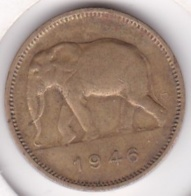 CONGO-BELGE. 2 FRANCS 1946. (Éléphant) - Congo (Belga) & Ruanda-Urundi