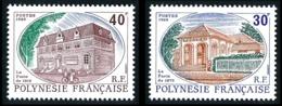 POLYNESIE 1988 - Yv. 322 Et 323 **   Faciale= 0,59 EUR - La Poste De 1875 Et De 1915 (2 Val.)  ..Réf.POL24558 - Polinesia Francese