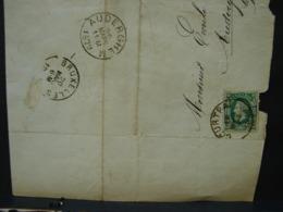 PL. Cl1. 5.  10c Vert  Sur Lettre De Sottegem à Auderghem-lez-Bruxelles.  1879 - 1869-1883 Léopold II