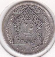 Syrie 25 Piastres 1947 / AH 1366, En Argent. KM# 79 - Syria