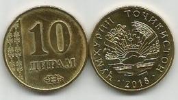 Tajikistan 10 Diram 2018. High Grade - Tajikistan