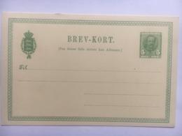 DENMARK 1907 Brevkort 5 Ore Green Unused Frederick VIII - Briefe U. Dokumente