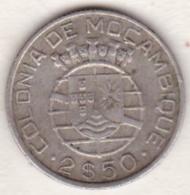 Colonie Portugaise, Mozambique , 2 1/2 Escudos 1942 . Argent - Mozambico