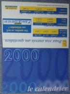 Petit Calendrier De Poche 2000 La Poste - Calendriers